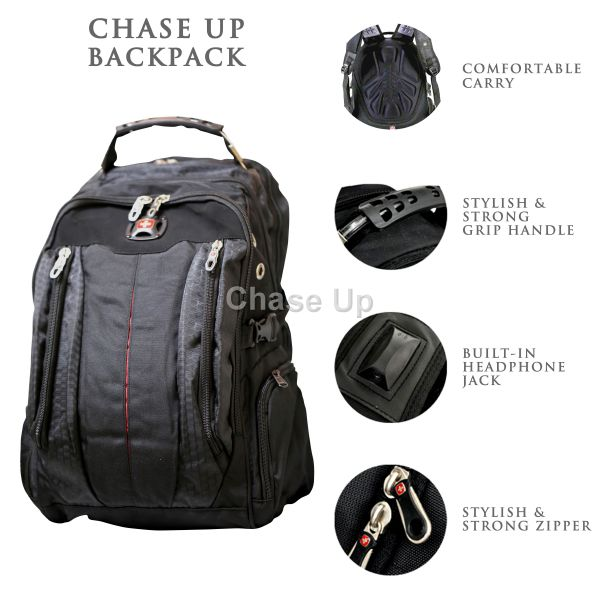 Gents Backpack 7620 TI-019 Imp (Black)